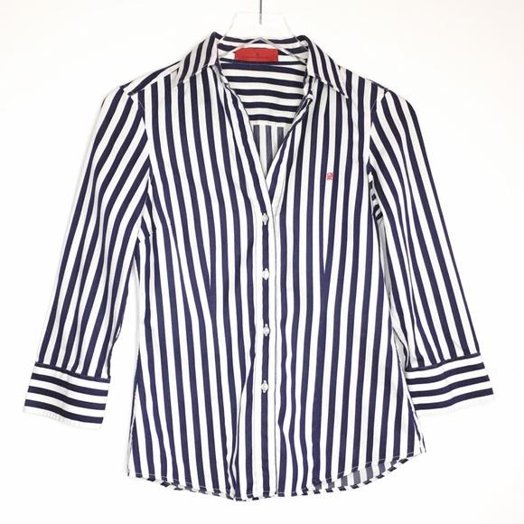 34ad026a2ac22e Carolina Herrera Tops   Ch Striped Logo Button Down Shirt   Poshmark